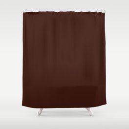 Cello in Repose ~ Mahogany Coordinating Solid Shower Curtain