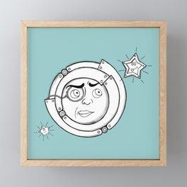 Motor Moon Framed Mini Art Print