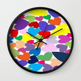 Random hearts Wall Clock