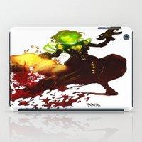 aquaman iPad Cases featuring Anne Frankenstein AF2 by Lazy Bones Studios