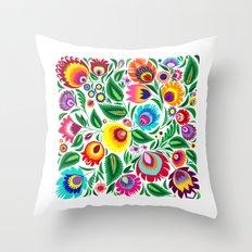 folk grassland Throw Pillow
