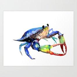 Crab, Sea World Rainbow Colors Beach Art Print