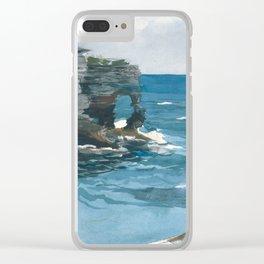 Winslow Homer - Rocky Shore, Bermuda, 1900 Clear iPhone Case
