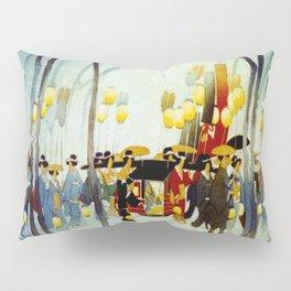Japanese Covered Litter and Lanterns Pillow Sham