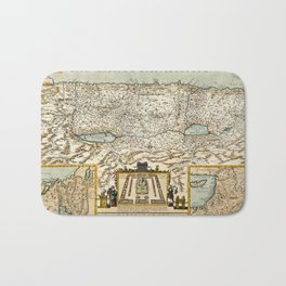 Map Of Israel 1660 Bath Mat