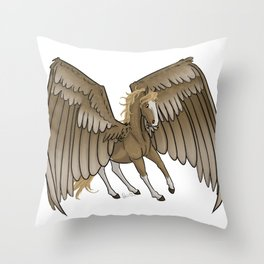 The Bronze Lady Throw Pillow