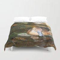 duck Duvet Covers featuring Duck by Twilight Wolf
