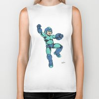 mega man Biker Tanks featuring Mega Man by Ramon Villalobos