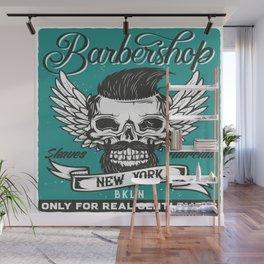 Barber Shop New York Wall Mural