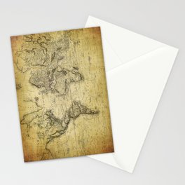 World Map 1814 Stationery Cards
