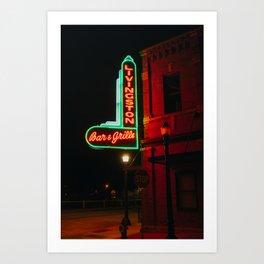 Bar & Grille - Livingston, MT Art Print