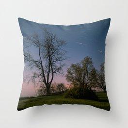 Spring Nights in Sandbanks Throw Pillow