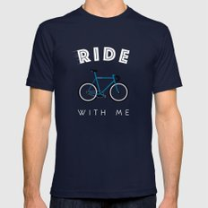 Ride with me SMALL Navy Mens Fitted Tee