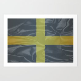 Silk Flag of Saint David Of Wales Art Print
