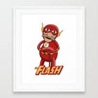 blair waldorf Framed Art Prints featuring Waldorf the Flash by JoshEssel