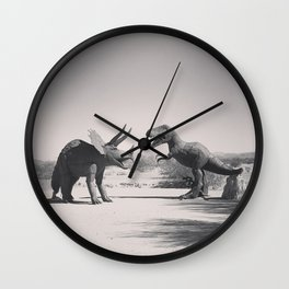 Dinos on The Road Wall Clock