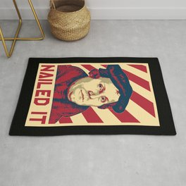 Martin Luther Retro Propaganda Rug