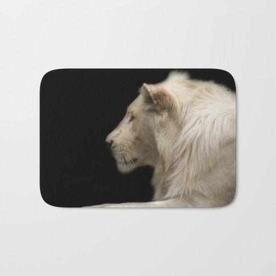 Young white lion Bath Mat