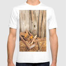 Rusted tools Mens Fitted Tee White MEDIUM