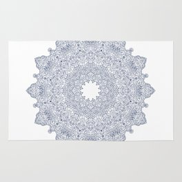 Navy Mandala Rug