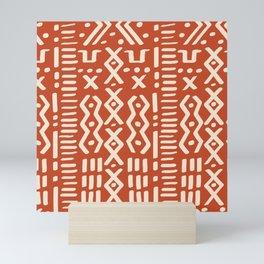 Mudcloth No. 1 in Terracotta + Bone Mini Art Print