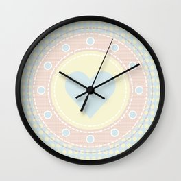 Cute heart Wall Clock
