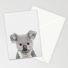 Koala Print, Australian Baby Animal, Nursery Wall Art, Peekaboo Animals, Koala Stationery Cards