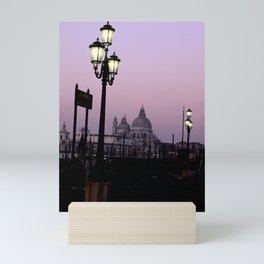 View of Church of Santa Maria della Salute from St. Mark's Square at dawn- Venice, Italy Mini Art Print