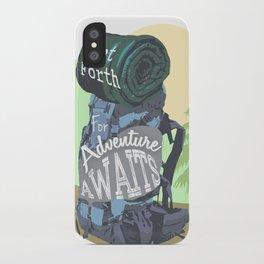 Adventure awaits iPhone Case