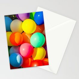 Colorful Toy Balloons Stationery Cards