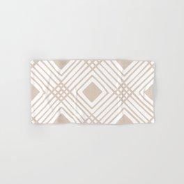 Criss Cross Diamond Pattern in Tan Hand & Bath Towel
