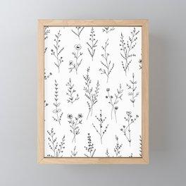 New Wildflowers Framed Mini Art Print