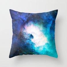 Space Rain Throw Pillow