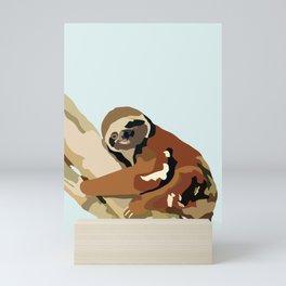 Tree Sloth Mini Art Print