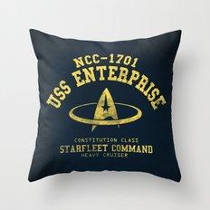 USS Enterprise spaceship Throw Pillow