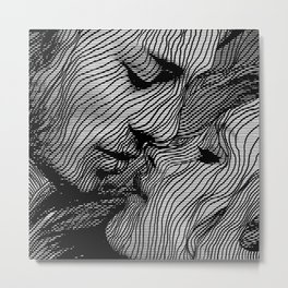 Interlaced Metal Print