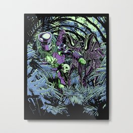 Welcome to the jungle (neon alternate) Metal Print