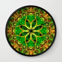 Forest Heart Mandala Wall Clock