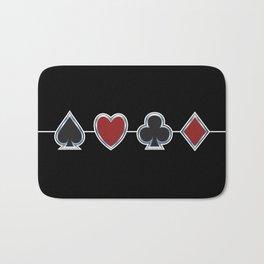 Spades Hearts Clubs Diamonds Bath Mat