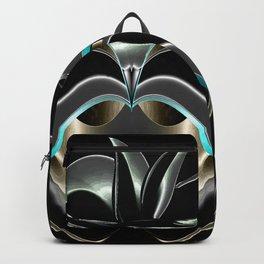 Abstrakt - Lilie schwarz grau Backpack