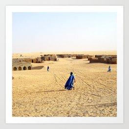 Blue Men of Mali Art Print