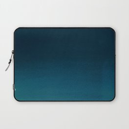 Navy blue teal hand painted watercolor paint ombre Laptop Sleeve