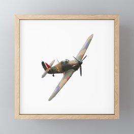 Hurricane WWII Allied fighter plane Framed Mini Art Print