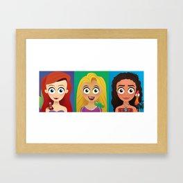Pixar Heroines Framed Art Print