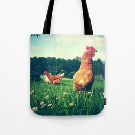 The Life of a Chicken Tote Bag