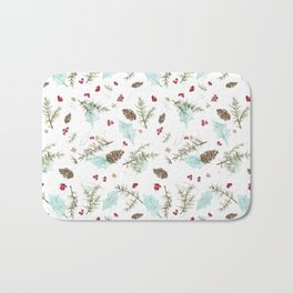 Pinecones and Berries Bath Mat