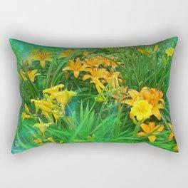 Day-glo Lilies Rectangular Pillow
