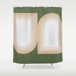 Contemporary Composition 13 Shower Curtain