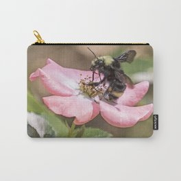 Bumble Bee on a Rose Carry-All Pouch