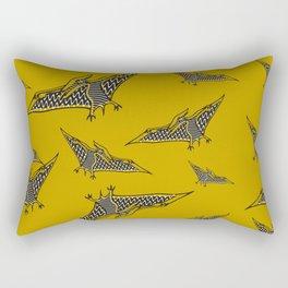 Pterosauria mustard Rectangular Pillow